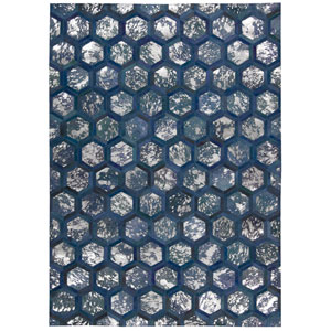 City Chic Cobalt Rectangular: 5 Ft 3 In x 7 Ft 5 In Rug
