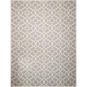 Sun and Shade Lovely Lattice Grey Indoor/Outdoor Rectangular: 10 Ft. x 13 Ft. Rug