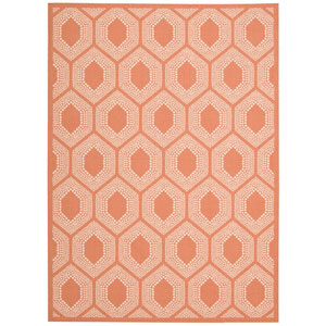 Sun and Shade Bubbly Tangerine Indoor/Outdoor Rectangular: 5 Ft. 3 In. x 7 Ft. 5 In. Rug