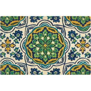Greetings Tapestry Bluebell Rectangular: 1 Ft. 6 In. x 2 Ft. 4 In. Doormat