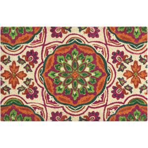 Greetings Tapestry Clay Rectangular: 1 Ft. 6 In. x 2 Ft. 4 In. Doormat