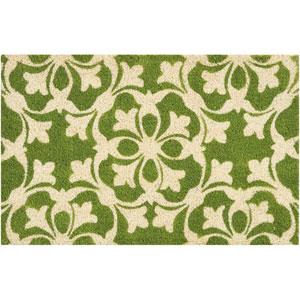 Greetings Courtyard Green Rectangular: 1 Ft. 6 In. x 2 Ft. 4 In. Doormat