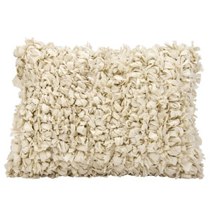 Shag Loop Shag Beige 14 x 20 In. Throw Pillow