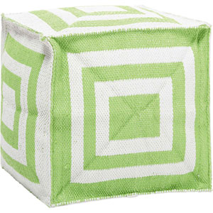Apple Green Cube 16 In. Outdoor Pouf