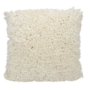 Shag Finger Yarn Cream 20 In. Throw Pillow