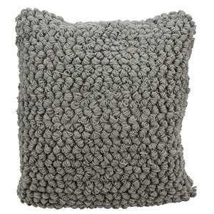Life Styles Thin Group Loops Light Grey 20 In. Throw Pillow