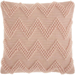 Life Styles Large Chevron Rose 20 In. Throw Pillow