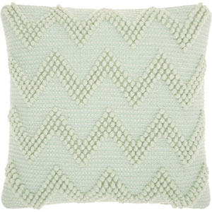 Life Styles Large Chevron Seafoam 20 In. Throw Pillow