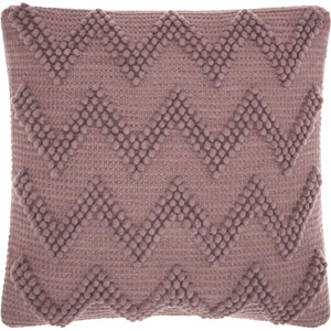 Life Styles Large Chevron Lavender 20 In. Throw Pillow