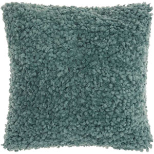 Shag Finger Yarn Celadon 20 In. Throw Pillow