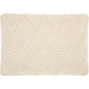 Life Styles Large Chevron Ivory 14 x 20 In. Throw Pillow