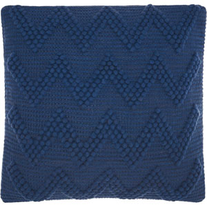 Life Styles Large Chevron Indigo 20 In. Throw Pillow