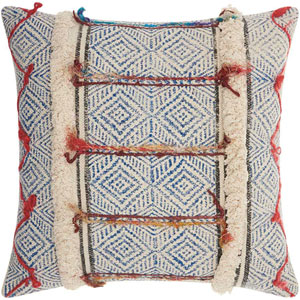 Life Styles Diamonds Stonewash Multicolor 20 In. Throw Pillow