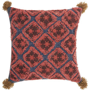 Life Styles Diamond Patches Multicolor 20 In. Throw Pillow