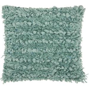 Shag Paper Loop Shag Celadon 20 In. Throw Pillow