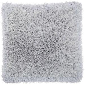Shag Lush Yarn Light Grey 20 In. Throw Pillow