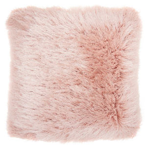 Shag Yarn Shimmer Shag Rose 20 In. Throw Pillow