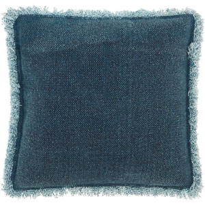 Life Styles Stonewash Fringe Indigo 20 In. Throw Pillow