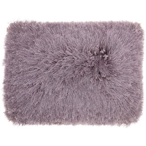 Yarn Shimmer Shag Lavender 14 x 20 In. Throw Pillow
