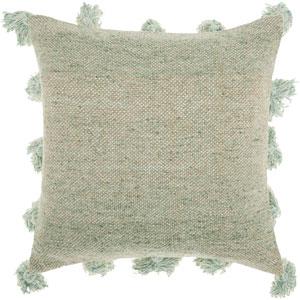 Life Styles Tassel Border Celadon 18 In. Throw Pillow