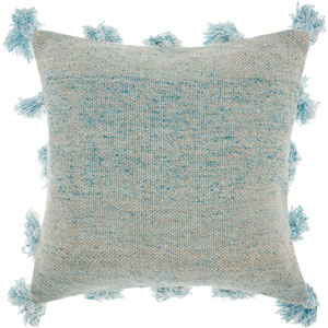 Life Styles Tassel Border Blue 18 In. Throw Pillow