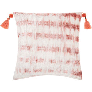 Life Styles Velvet Tie Dye Rose 20 In. Throw Pillow