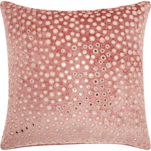 Life Styles Velvet Mirrors Rose 20 In. Throw Pillow