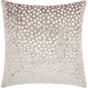 Life Styles Velvet Mirrors Grey 20 In. Throw Pillow