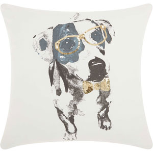 Trendy, Hip and New-Age Glitter Dalmatian Gold 18 In. Throw Pillow