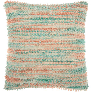 Life Styles Space Dyed Woven Multicolor 20 In. Throw Pillow