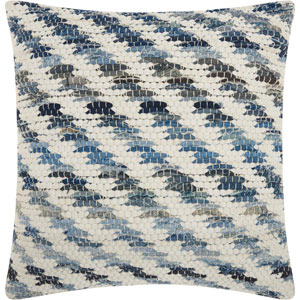 Life Styles Woven Denim Diagonal Denim 20 In. Throw Pillow