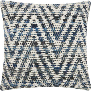 Life Styles Woven Denim Chevron Denim 20 In. Throw Pillow