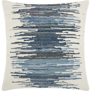 Life Styles Woven Denim Ombre Denim 20 In. Throw Pillow