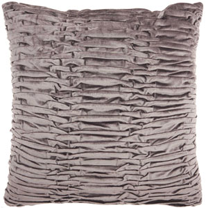 Life Styles Ruched Velvet Dark Grey 18 In. Throw Pillow