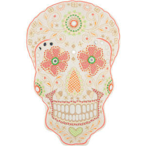 Trendy, Hip and New-Age Doted Skull Multicolor 15 x 12 In. Throw Pillow
