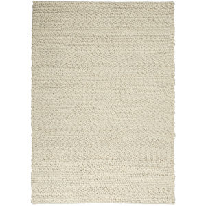 Riverstone Ivory Rectangular: 5 Ft. 3 In. x 7 Ft. 5 In. Area Rug