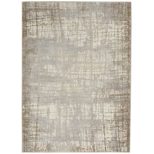 Rush Ivory Taupe Rectangular: 6 Ft. x 9 Ft. Area Rug