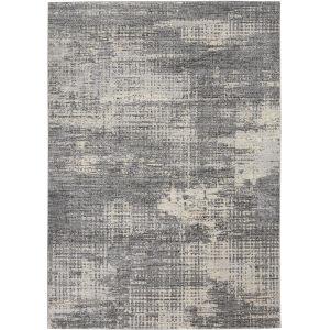Rush Grey Beige Rectangular: 6 Ft. x 9 Ft. Area Rug