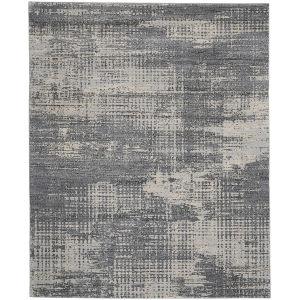 Rush Grey Beige Rectangular: 7 Ft. x 10 Ft. Area Rug