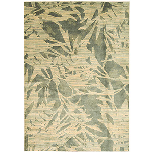 Maya Borneo Zinc Rectangular: 3 Ft. 5 In. x 5 Ft. 5 In. Rug