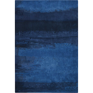 Luster Wash Indigo Wash Indigo Rectangular: 8 Ft. 3 In. x 11 Ft. Rug