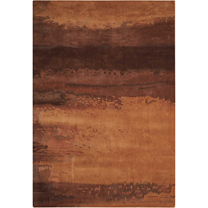 Luster Wash Amber Wash Copper Rectangular: 3 Ft. x 5 Ft. Rug