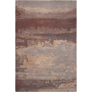 Luster Wash Chrome Wash Slate Rectangular: 3 Ft. x 5 Ft. Rug