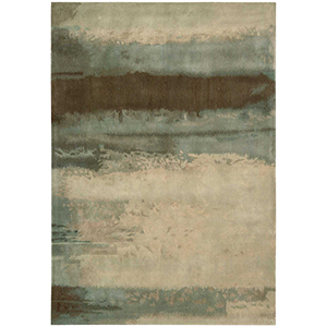 Luster Wash Beryl Wash Light Green Rectangular: 4 Ft. x 6 Ft. Rug
