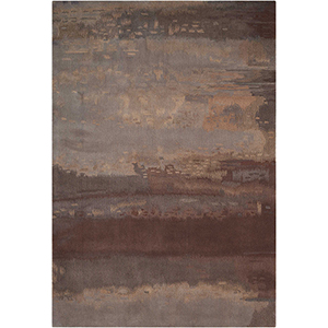 Luster Wash Chrome Wash Slate Rectangular: 5 Ft. 6 In. x 8 Ft. Rug