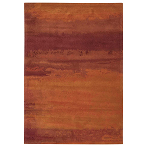 Luster Wash Russet Tones Rust Rectangular: 3 Ft. x 5 Ft. Rug