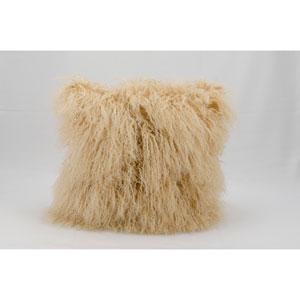 Fur Beige 16-Inch Pillow