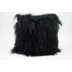 Fur Black 16-Inch Pillow