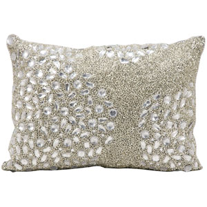Luminecence Silver 10 x 14-Inch Pillow