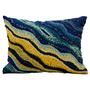 Fantasia Navy 13 x 17-Inch Pillow